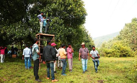 KODAIKANAL, INDIA - JUNE 21, 2016: Film Crew On Location Movie Shooting