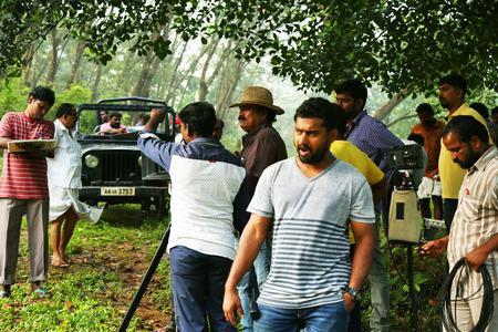 KODAIKANAL, INDIA - JUNE 21, 2016: Film shooting and making the movie man work on set,