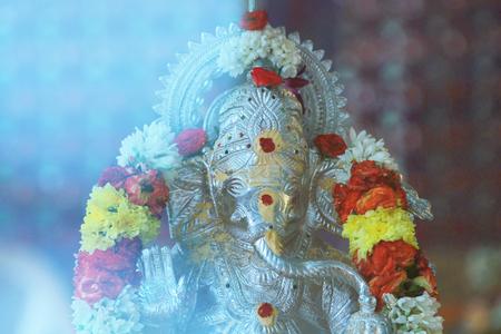 hindu god ganesha ceremonial elephant Stock Photo