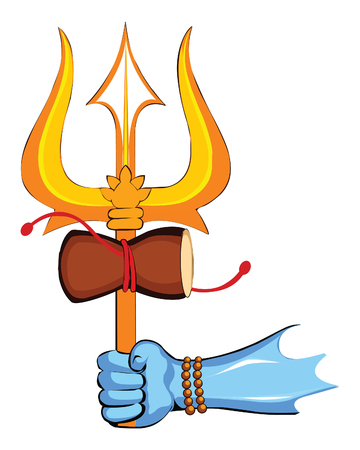 maha shivratri lord shiva trishul illustration background