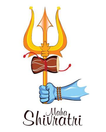 illustration Of Happy Maha Shivratri Greeting Card Design Illustration