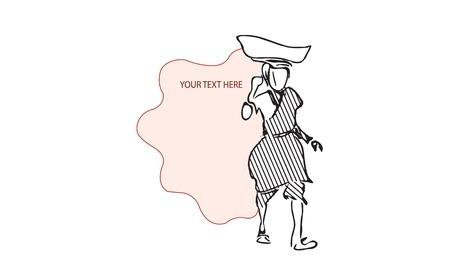 8 March - International Womens Day Background. illustration place for text. Ilustração