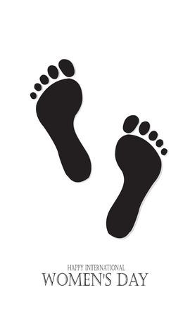 Happy feet International Women's day. Template for a poster, cards, banner. Vector illustration Vektorové ilustrace