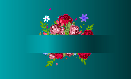 March 8 International Womens day pink and blue color background. Ilustração