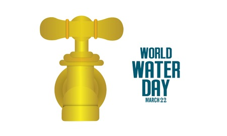 World water day. Ecology concept. Save water concept. Concept vector illustration. Ilustração