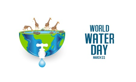 World Water Day - vector abstract water drop concept. Save the water