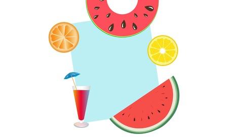 Summer sale beautiful web banner. fresh cocktail.