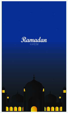 Beautiful Ramadan Kareem design background Ilustração