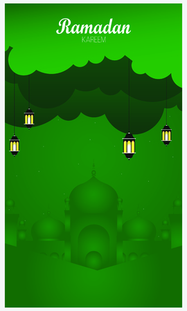 Ramadan backgrounds vector,Ramadan Kareem on abstract background. Ilustração