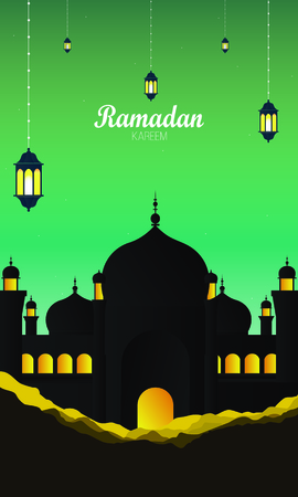 Abstract Ramadan Kareem stylish Islamic background vector Ilustração