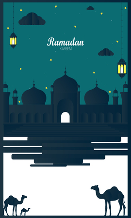 Elegant Ramadan Kareem beautiful background vector