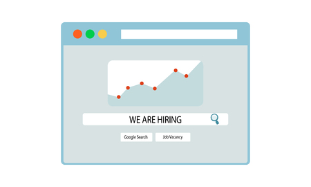 Were Hiring Searching Concept Template Text Box Design