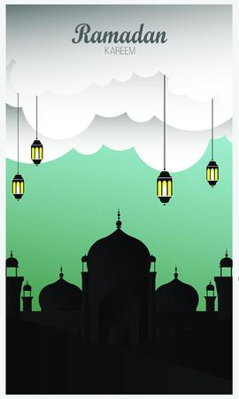 background Ramadan Kareem, vector design Ilustracja