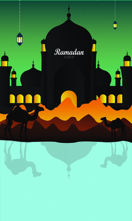 Ramadan Mubarak. Ramadan Kareem. Pattern, traditional oriental design. Islamic background. Mosque background.