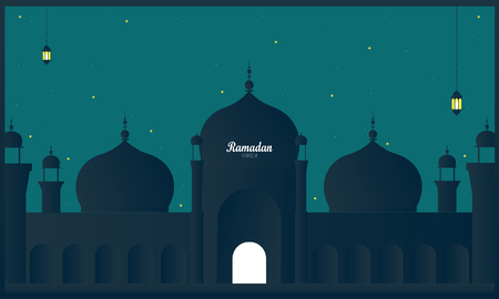 Ramadan Kareem Islamic festival beautiful background vector Ilustração