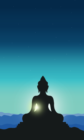 Illustration Of Buddha Purnima Background. Ilustração