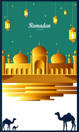 Ramadan Kareem beautiful greeting card Ilustracja