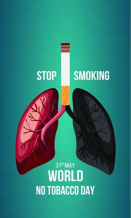 Concept of No smoking and World No Tobacco Day.