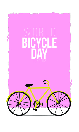 world bicycle Day vector template. Design for banner, greeting cards or Poster.