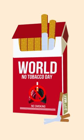 Konzept der Nichtraucher und Weltnichtrauchertag.