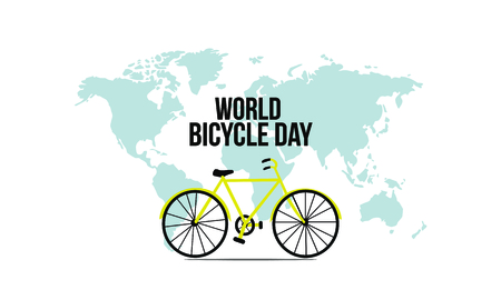 Illustration of Concept World bicycle day. Vector illustration