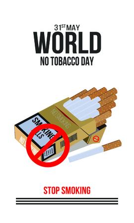 Illustration des Konzepts Nichtraucher und Weltnichtrauchertag.