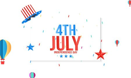 Fourth of July Independence Day.Happy Independence Day Banner Ilustração