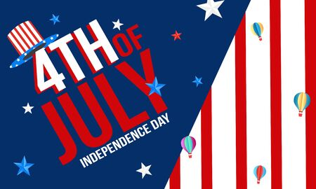 Fourth of July. 4th of July holiday banner. USA Independence Day banner for sale
