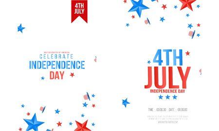 4th of July Independence Day of the USA Vector Illustration. Fourth of July Ilustração