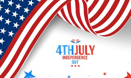 Happy 4th of July USA Independence Day greeting card