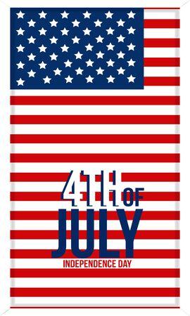 Memorial Day background with US national flag, stars and stripes. Template for Memorial Day Ilustração