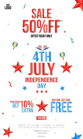 Happy Independence Day 4th of July Poster, 4th Of July USA Independence Day Offer Sale