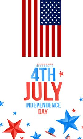 Independence day USA sale promotion banner template.4th of July celebration poster template