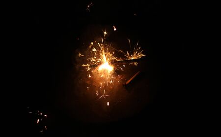 Beautiful Diwali Glowing Firecracker, fire of cracker explosion
