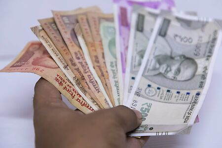 Five Hundred, Two thousand Indian rupee in white background,