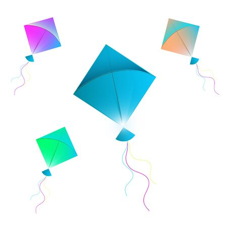illustration of Makar Sankranti wallpaper with colorful kites