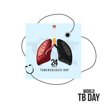 Vector illustration of a Backgrounds for World Tuberculosis Day.