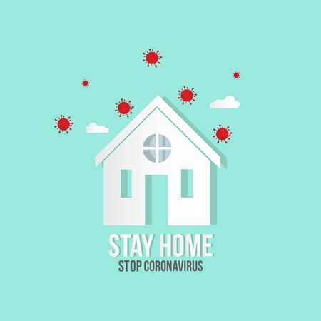Stay home. Coronavirus quarantine. COVID-19 quarantine concept. Self-isolation.