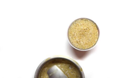 Indian Home made filter coffee on white backgrounds