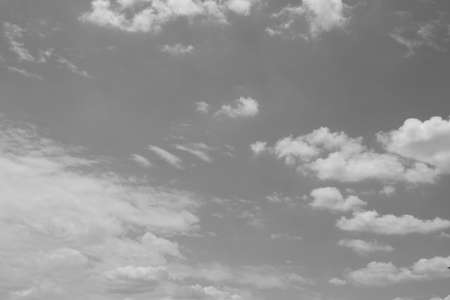 Black and White Sky with cloud