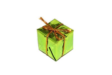 Small Handmade green gift box Imagens
