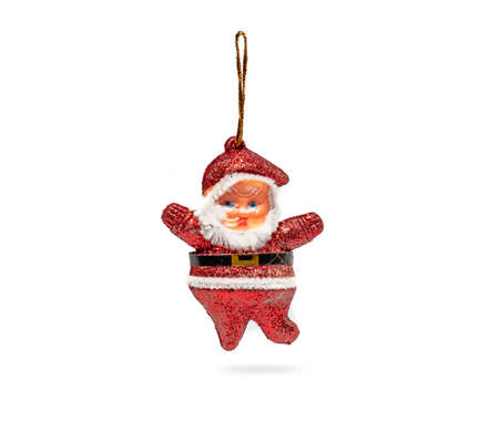 Santa Claus figurine isolated on white backgrounds