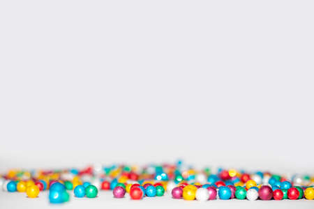 colorful balls on white background,