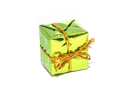 Colorful gifts box isolated on white studio backgrounds