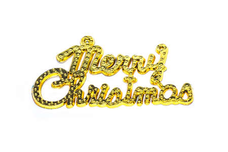 Merry Christmas golden text on white backgrounds