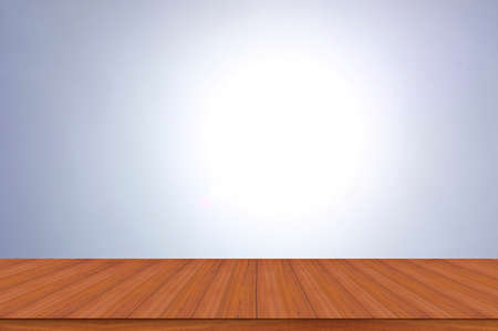 wooden table with sunlight blur bokeh backgrounds