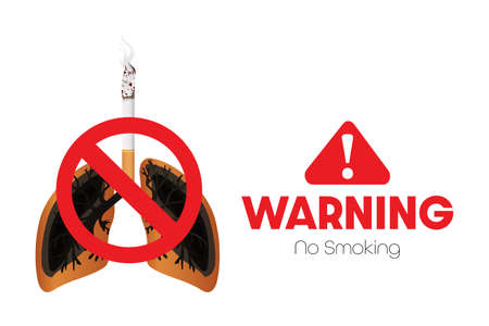 Concept of Warning No smoking. Vektorgrafik