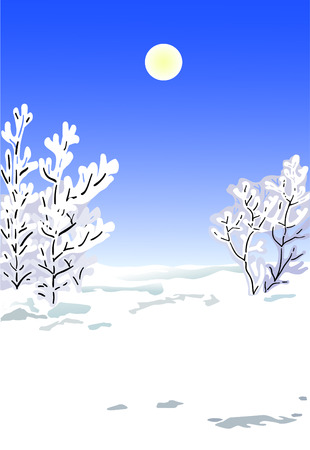Trees covered with a snow in a winter season Stock Vector - 2111177