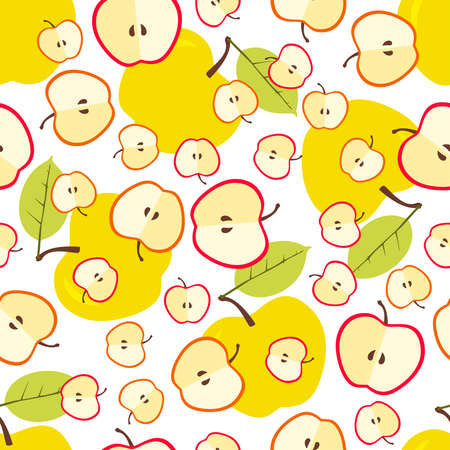 Apple seamless pattern. illustration. Hand drawn illustration. Icon sign for print and labelling. Design for fabric, scrapbooking, packaging paper, wallpaper, wrapping, menu