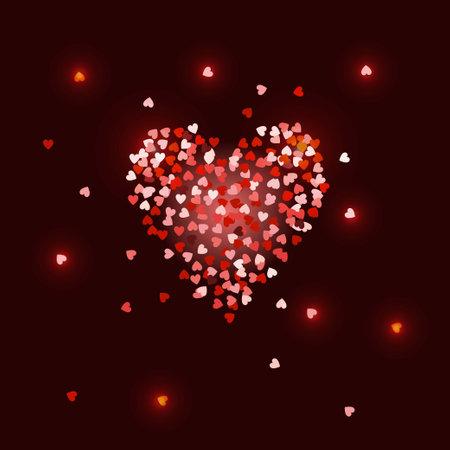 Heart. Vector illustration. Romantic Love symbol. For Valentines day, birthday, wedding invitation, greeting card.